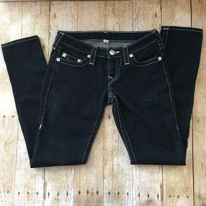 True Religion Skinny dark wash jeans. Size 27